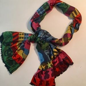 TOUS multi motives and multiple colors scarf 🧣